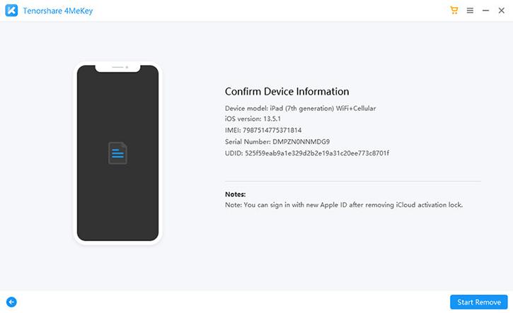 4mekey confirm device info