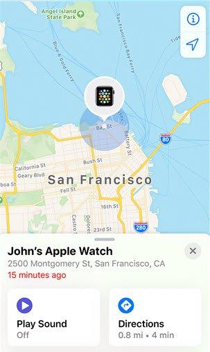 apple watch find my