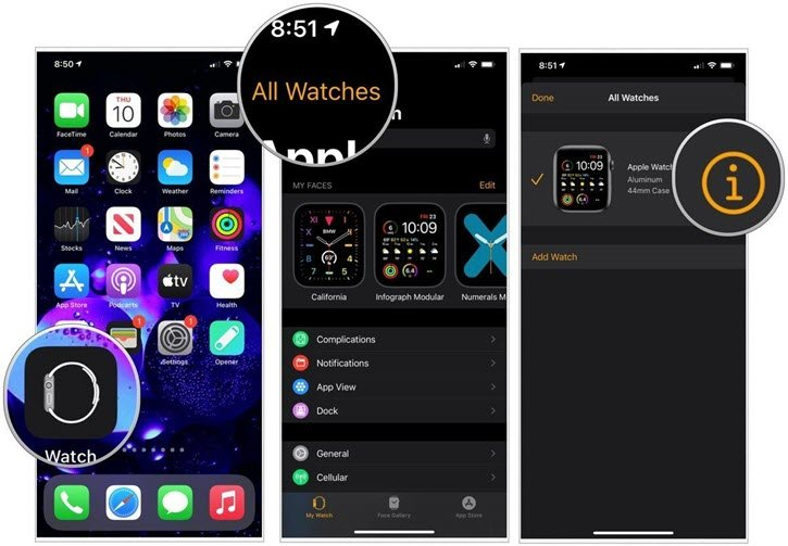 find watch info