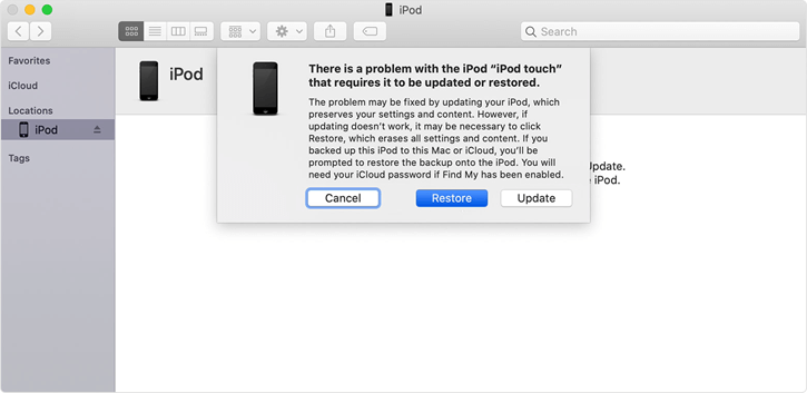 ipod touch recovery mode