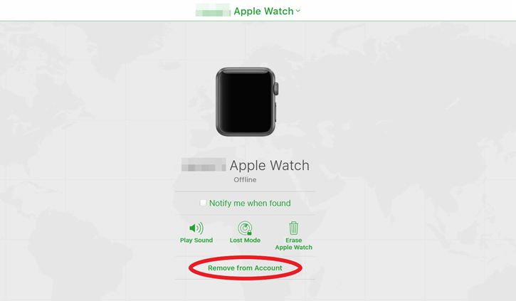 remove apple watch from account
