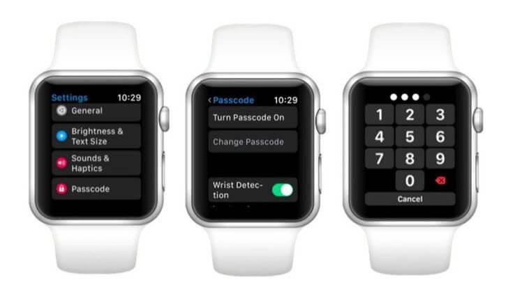 set passcode on apple watch