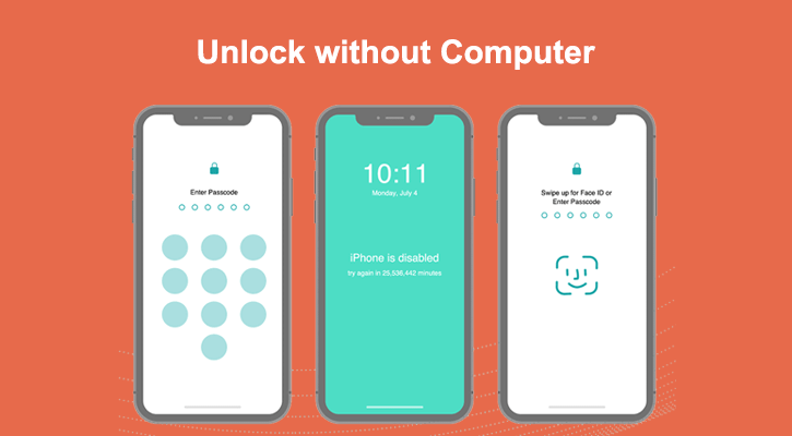 unlock iphone passcode without computer