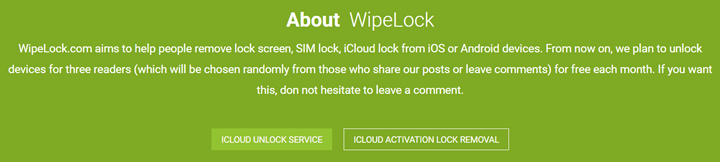 wipelock intro