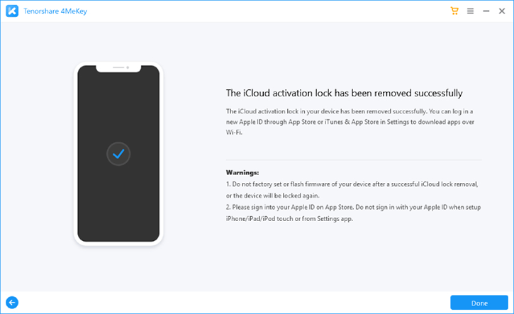 new 4mekey activation lock removed