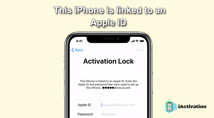 this iphone is linked to an apple id