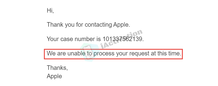 apple email cant unlock iphone