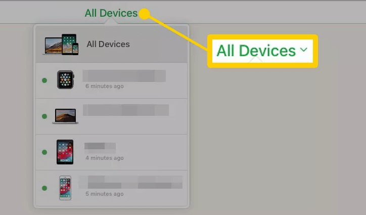 icloud all devices