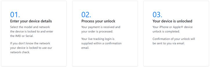 unlock service steps