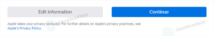 verify info offerred to apple