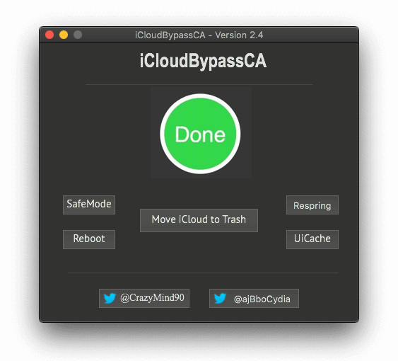 icloudbypassca done