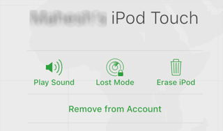 ipod touch icloud options
