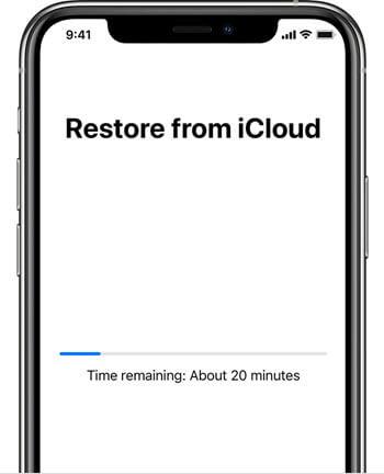 iphone12 setup restore from icloud in progress