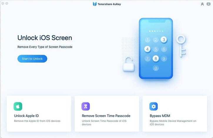 tenorshare 4ukey new interface