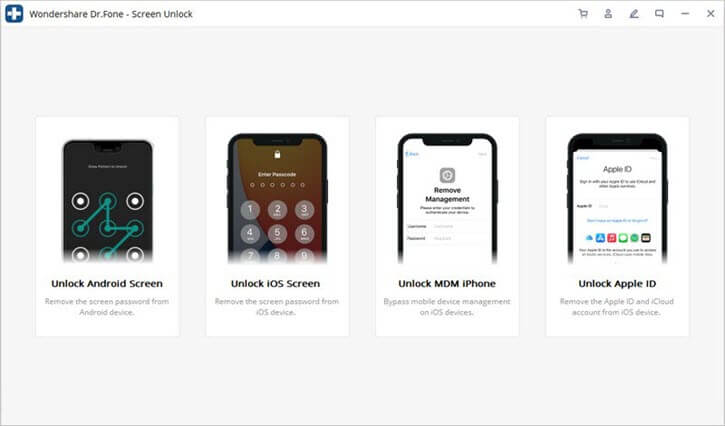 drfone screen unlock