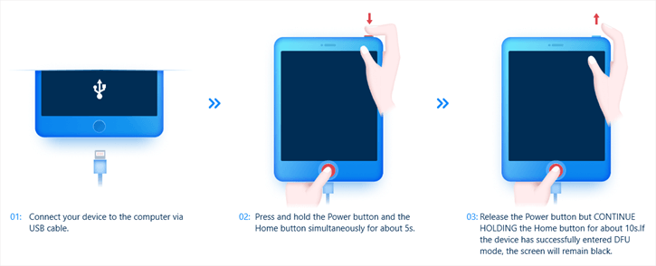 ipad with home button dfu