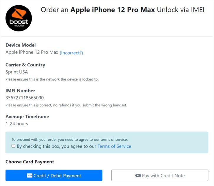 boost mobile unlock order info
